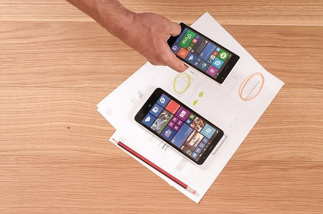 Image of mobile app planning.