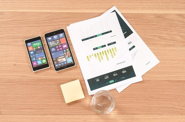 Image of a mobile app being planned.